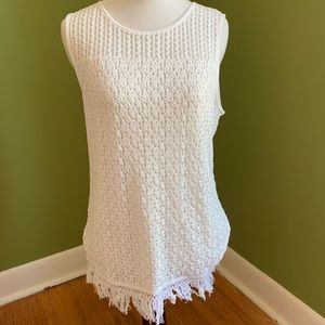Spanner tank top, white. Size small.
